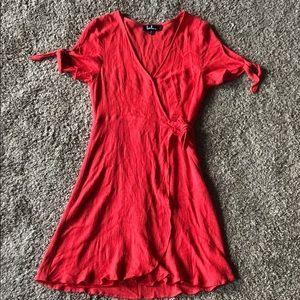 Lulu's Red Haven Wrap Dress